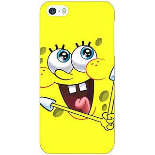 Jugaaduu Spongebob Back Cover Case For Apple iPhone 5c - J30460