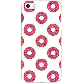 Jugaaduu Donut Pattern Back Cover Case For Apple iPhone 5c - J31384