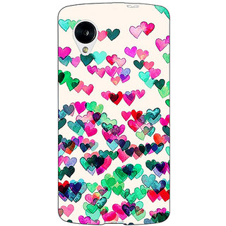 Jugaaduu Hearts in the Air Pattern Back Cover Case For Google Nexus 5 - J40233