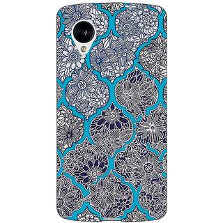 Jugaaduu Blue Morroccan Pattern Back Cover Case For Google Nexus 5 - J40243