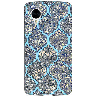 Jugaaduu Sky Morroccan Pattern Back Cover Case For Google Nexus 5 - J40244