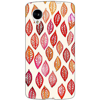 Jugaaduu Red Leaves Pattern Back Cover Case For Google Nexus 5 - J40253