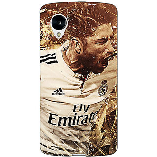 Jugaaduu Real Madrid Sergio Ramos Back Cover Case For Google Nexus 5 - J40588