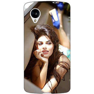 Jugaaduu Bollywood Superstar Jacqueline Fernandez Back Cover Case For Google Nexus 5 - J40996