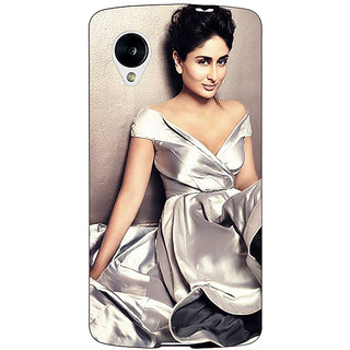 Jugaaduu Bollywood Superstar Kareena Kapoor Back Cover Case For Google Nexus 5 - J41007