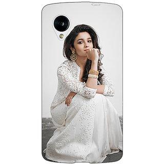 Jugaaduu Bollywood Superstar Alia Bhatt Back Cover Case For Google Nexus 5 - J41025