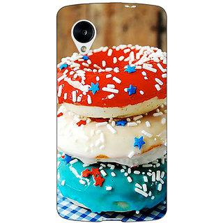 Jugaaduu Donuts Back Cover Case For Google Nexus 5 - J41222