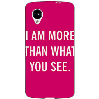 Jugaaduu Quote Back Cover Case For Google Nexus 5 - J41225