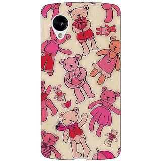 Jugaaduu Teddy Pattern Back Cover Case For Google Nexus 5 - J40263