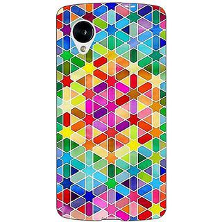 Jugaaduu Hexagon Star Pattern Back Cover Case For Google Nexus 5 - J40280