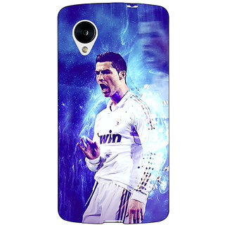 Jugaaduu Cristiano Ronaldo Real Madrid Back Cover Case For Google Nexus 5 - J40308