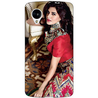 Jugaaduu Bollywood Superstar Jacqueline Fernandez Back Cover Case For Google Nexus 5 - J41051