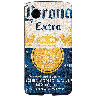 Jugaaduu Corona Beer Back Cover Case For Google Nexus 5 - J41245