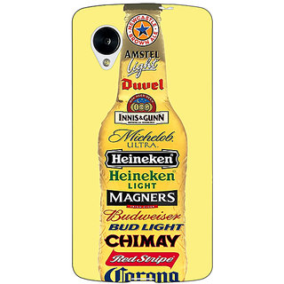 Jugaaduu Beer Bottle Back Cover Case For Google Nexus 5 - J41248