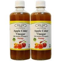 Sinew Apple Cider Vinegar With Honey 500 Ml (Pack Of 2)