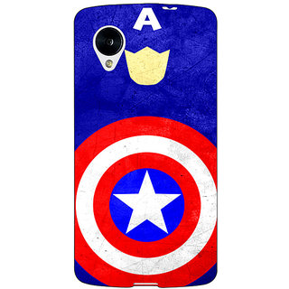 Jugaaduu Superheroes Captain America Back Cover Case For Google Nexus 5 - J40331