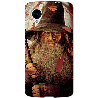 Jugaaduu LOTR Hobbit Gandalf Back Cover Case For Google Nexus 5 - J40360