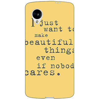 Jugaaduu Quote Back Cover Case For Google Nexus 5 - J41335