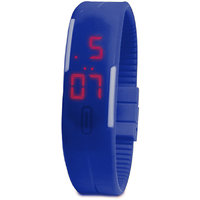 Jelly Slim Men Women Unisex Blue LED Digital Casual Bracelet Band Led Watch