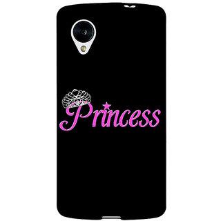Jugaaduu Princess Back Cover Case For Google Nexus 5 - J41398