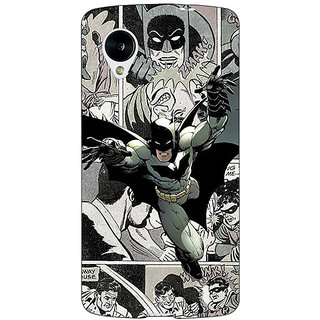 Jugaaduu Batman Comic Back Cover Case For Google Nexus 5 - J41443