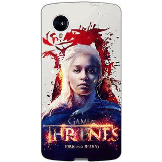 Jugaaduu Game Of Thrones GOT Khaleesi Daenerys Targaryen Back Cover Case For Google Nexus 5 - J41539