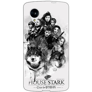 Jugaaduu Game Of Thrones GOT House Stark Back Cover Case For Google Nexus 5 - J41541
