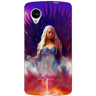 Jugaaduu Game Of Thrones GOT Khaleesi Daenerys Targaryen Back Cover Case For Google Nexus 5 - J41552