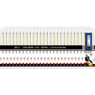 Eastern Digital Desktop DDR3 SDRAM - 4 GB (1600 Mhz) (Combo Pack of 25)
