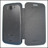 Micromax A110 Canvas 2 Superfone Durable Leather Flip Hard Back Cover Case Black Color