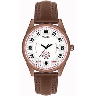 Timex TI000V10300 Brown/White Analog Watch