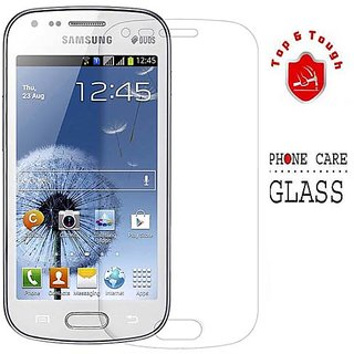 Top  Tough Tempered Glass for Samsung Galaxy S Duos 7582 available at ShopClues for Rs.175
