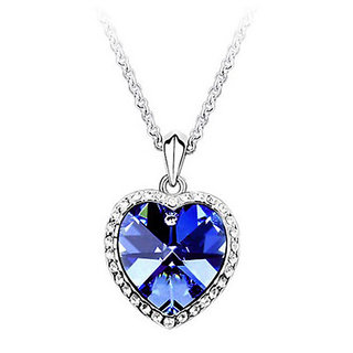 The Pari Heart Of Ocean Alluring Blue Pendant