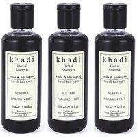 Khadi Amla and Bhringraj Shampoo SLS  Paraben Free (Tripack) (630 ml)