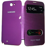 100% Original Samsung Galaxy Note 2 N7100 S- View  Flip Cover Case - Purple