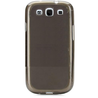 Callmate Soft Back Case For S3 I9300 With Screen Guard- Black