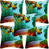 Krayon Vine Arts Digital Print Cushion Cover Set Of 5 Alone Way