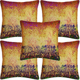Krayon Vine Arts Digital Print Cushion Cover Set Of 5 Ombray Texture