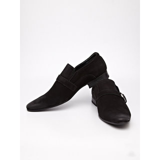 Cobblerz Leather Loafers With Buckle