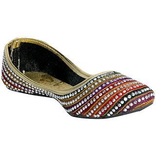 Panahi Women Multi Color Ethnic Jutti (FBWSTNLEHJTI140MC)