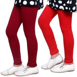 Indiweaves Girls Super Soft Cotton Leggings Combo 2-(7140071404-IW)