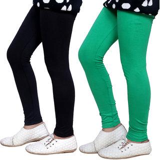 Indiweaves Girls Super Soft Cotton Leggings Combo 2-(7140571406-IW)
