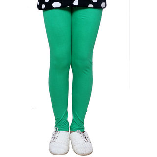 IndiWeaves Kids Super Soft Cotton Green Leggings