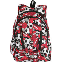 United Bags Girls Bunny V Red Soccer Backpack