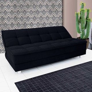 Fabhomedecor Manila Wooden Frame Sofa Cum Bed With