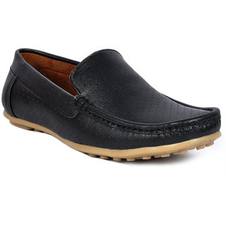 Footlodge Men Black Slip On Loafers