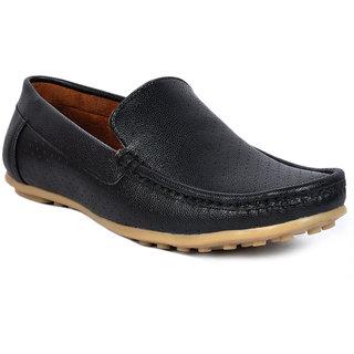 Footlodge Men Black Slip On Loafers