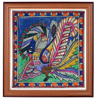 Mithla Panting Peacock Art by Partibha Kiran
