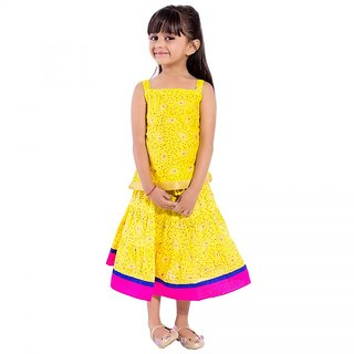 Decot Self Design Baby Girls Lahenga Choli