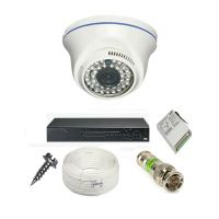 Rapter CCTV COMBO KIT, 36IR Dome Camera 1 Pcs + 4 Channel Power Supply + 4 Channel HD/AHD DVR + 90 Meter 3+1 Wire (LIMITED STOCK)